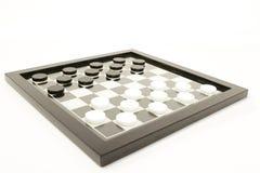 Juego de mesa blanco y negro Foto de archivo