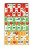 Juego de mesa de bingo Foto de archivo libre de regalías