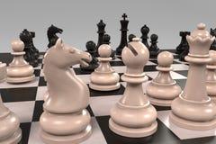 Juego de mesa del ajedrez Foto de archivo libre de regalías
