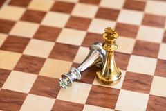 Juego de mesa del ajedrez, concepto competitivo del negocio imagen de archivo libre de regalías