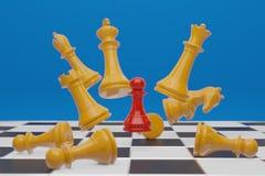 Juego de mesa del ajedrez, concepto competitivo del negocio, espacio 3D de la copia libre illustration