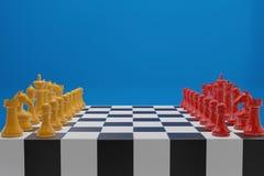 Juego de mesa del ajedrez, concepto competitivo del negocio, espacio de la copia stock de ilustración