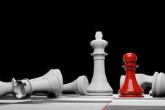 Juego de mesa del ajedrez, concepto competitivo del negocio, representaci?n del espacio 3D de la copia ilustración del vector