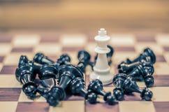 Juego de mesa del ajedrez para las ideas y competencia y estrategia, BU del ajedrez Foto de archivo libre de regalías