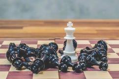 Juego de mesa del ajedrez para las ideas y competencia y estrategia, BU del ajedrez Imagenes de archivo