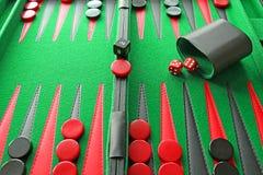 Juego de mesa del backgammon Fotografía de archivo libre de regalías