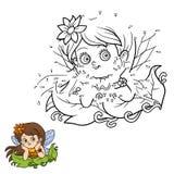 Juego de números para los niños: pequeña hada libre illustration