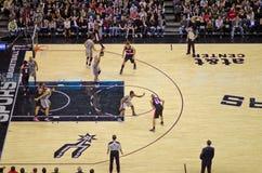 Juego de NBA imagen de archivo