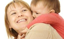 Juego de niños lindo con la madre Fotografía de archivo