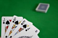 Juego de póker Imágenes de archivo libres de regalías