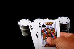 Juego de póker Fotografía de archivo