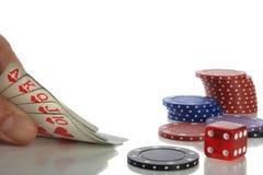 Juego de póker Foto de archivo libre de regalías