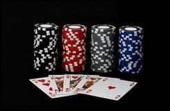 Juego de póker del rubor real 2 Fotos de archivo