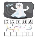 Juego de palabra con el fantasma Imagenes de archivo