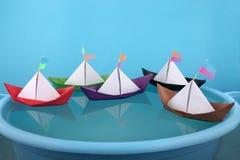 Juego de papel de los barcos Foto de archivo