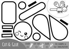 Juego de papel para los niños, libélula de la educación libre illustration