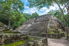 Juego de pelota,玛雅状况领域,科巴,尤加坦,墨西哥 免版税库存照片