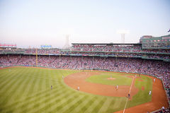 Juego de Red Sox en el parque de Fenway Fotografía de archivo libre de regalías