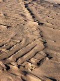 Juego de sombra en la duna de arena Imagen de archivo