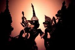 Juego de sombra de Wayang Kulit fotografía de archivo