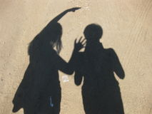 Juego de sombras Fotografía de archivo libre de regalías