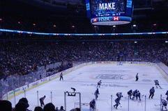 Juego de Stanley Cup Playoffs fotografía de archivo libre de regalías