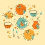 Juego de té Fotos de archivo libres de regalías