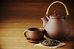 Juego de té Imágenes de archivo libres de regalías