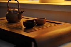 Juego de té Imagen de archivo libre de regalías