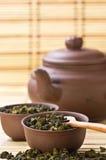 Juego de té asiático Foto de archivo libre de regalías