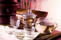 Juego de té chino Foto de archivo
