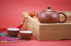 Juego de té chino Imágenes de archivo libres de regalías