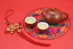 Juego de té chino Fotos de archivo