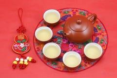 Juego de té chino Fotografía de archivo
