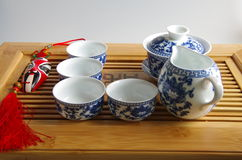 Juego de té chino Imagen de archivo libre de regalías
