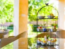 Juego de té de la tarde Imagen de archivo libre de regalías