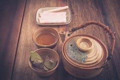 Juego de té del primer Fotos de archivo