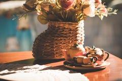 Juego de té hermoso Imagen de archivo