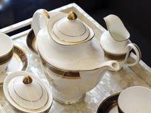 Juego de té, pote Fotos de archivo