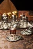 Juego de té turco Imagen de archivo