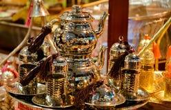 Juego de té turco tradicional Imagenes de archivo