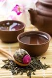 Juego de té asiático Imágenes de archivo libres de regalías