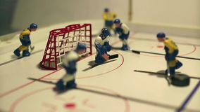 Juego de tabla del hockey sobre hielo del ataque almacen de metraje de vídeo