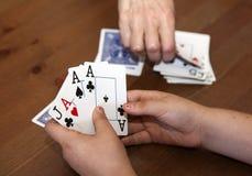 Juego de tarjeta foto de archivo libre de regalías