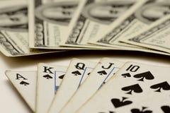 Juego de tarjeta del póker Fotos de archivo libres de regalías