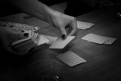 Juego de tarjeta interesante de la diversión, ocio Foto de archivo