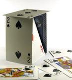 Juego de tarjetas que juegan Fotografía de archivo