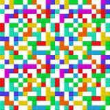 Juego de Tetris Modelo inconsútil con los pedazos del ladrillo stock de ilustración