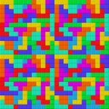 Juego de Tetris Pedazos del ladrillo Modelo inconsútil ilustración del vector