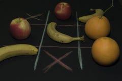 Juego de Tris con la fruta Imágenes de archivo libres de regalías